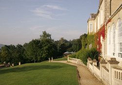 Manor house - side and gardens